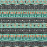 Wektorowy handdrawn plemienny geometryczny wzór Koloru boho projektujący ilustracyjny tło zdjęcie royalty free