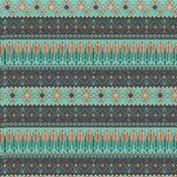 Wektorowy handdrawn plemienny geometryczny wzór Koloru boho projektujący ilustracyjny tło fotografia stock