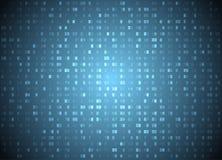 Wektorowy heksadecymalny kodu błękita tło Duży dane, programowania siekać i, komputerowy leje się bajt ilustracja wektor