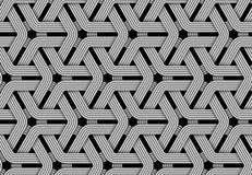 Wektorowy heksagonalny bezszwowy wzór wyplatający włókno ilustracji