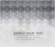 Wektorowy heksagonalny tło Cyfrowej geometryczna abstrakcja z liniami i kropkami abstrakcjonistyczni dekoracyjni elementy geometr Obrazy Stock
