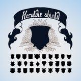 Wektorowy Heraldyczny osłona set, Zdjęcie Royalty Free