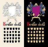 Wektorowy Heraldyczny osłona set, Fotografia Stock