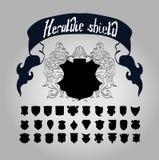 Wektorowy Heraldyczny osłona set, Fotografia Royalty Free