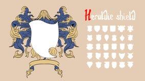 Wektorowy Heraldyczny set Fotografia Royalty Free