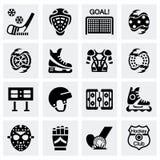 Wektorowy hokejowy ikona set Zdjęcie Stock