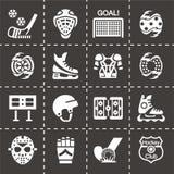 Wektorowy hokejowy ikona set Obraz Stock
