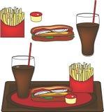 Wektorowy hot dog talerz Zdjęcia Royalty Free
