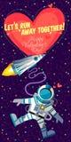Wektorowy illustrationabout kosmos dla walentynka dnia Zdjęcia Royalty Free