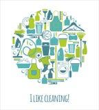 Wektorowy illustratuon cleaning Zdjęcia Royalty Free