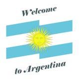 Wektorowy ilustraci powitanie Argentyna Fotografia Royalty Free