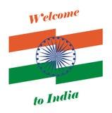 Wektorowy ilustraci powitanie India Zdjęcie Royalty Free