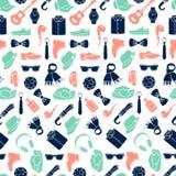 Wektorowy ilustracja wzór mod akcesoria odziewa styl mężczyzna i Obraz Royalty Free