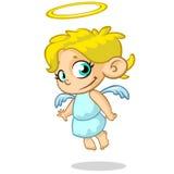 Wektorowy ilustracyjny śliczny Bożenarodzeniowy anioł Obrazy Royalty Free