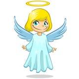 Wektorowy ilustracyjny śliczny Bożenarodzeniowy anioła charakter Obraz Royalty Free