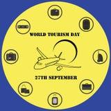Wektorowy ilustracyjny Światowej turystyki dzień Zdjęcia Royalty Free