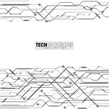 Wektorowy ilustracyjny abstrakcjonistyczny futurystyczny obwód deski tło Zdjęcia Stock