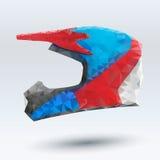 Wektorowy Ilustracyjny abstrakcjonistyczny motocyklu hełm Obraz Royalty Free