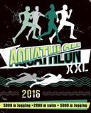 Wektorowy ilustracyjny aquathlon długodystansowy - Zdjęcia Royalty Free