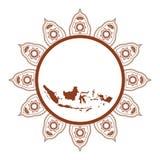 Wektorowy ilustracyjny batik i wyspa indonezyjczyk ilustracja wektor