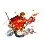 Wektorowy ilustracyjny hokejowy bramkarz Fotografia Stock