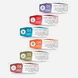 Wektorowy ilustracyjny infographics szablon Zdjęcie Royalty Free