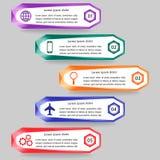Wektorowy ilustracyjny infographics szablon Zdjęcia Stock