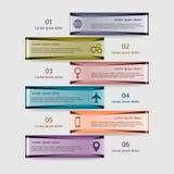 Wektorowy ilustracyjny infographics szablon Obraz Stock