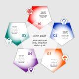 Wektorowy ilustracyjny infographics szablon Fotografia Royalty Free