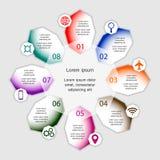 Wektorowy ilustracyjny infographics szablon Fotografia Stock