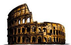 Wektorowy ilustracyjny kolosseum Włochy przyciągań sztuki budynku historia ilustracja wektor