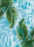 Wektorowy ilustracyjny lato temat California Florida ilustracji
