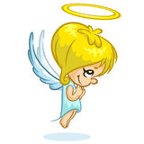Wektorowy ilustracyjny śliczny Bożenarodzeniowy anioła charakter Obraz Stock