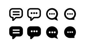 Wektorowy ilustracyjny pojęcie rozmowa bąbla ikona Czerń na białym tle ilustracja wektor