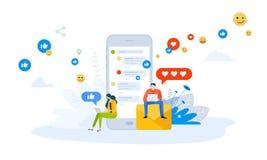 Wektorowy ilustracyjny pojęcie mobilni apps i usługa ilustracja wektor