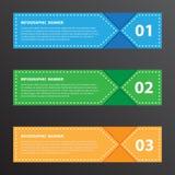 Wektorowy ilustracyjny sztandar dla projekta i kreatywnie pojęcia Obrazy Stock