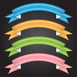Wektorowy ilustracyjny tasiemkowy sztandar dla projekta i kreatywnie pracy Fotografia Stock