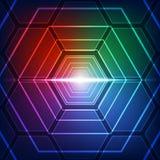 Wektorowy ilustracyjny techniki technologii cyfrowej pojęcie, abstrakcjonistyczny tło Zdjęcie Stock