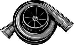 Wektorowy ilustracyjny Turbo na odosobnionym białym tle ilustracji