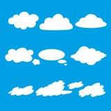 Wektorowy ilustracyjny ustawiający chmury inkasowe Zdjęcia Stock