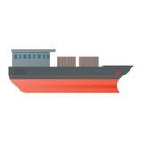 Wektorowy ilustracyjny zbiornikowiec do ropy, płaski projekt Fotografia Stock