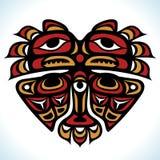 Wektorowy indianina wzór w formie serca Zdjęcia Royalty Free