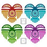Wektorowy indianina wzór w formie serca Obraz Royalty Free