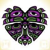 Wektorowy indianina wzór w formie serca Fotografia Royalty Free