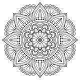 Wektorowy indyjski mandala Obraz Royalty Free