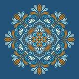 Wektorowy indyjski mandala Zdjęcia Royalty Free