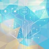 Wektorowy infographic lub sieci projekta szablon Abstrakcjonistyczna technologia h Zdjęcia Royalty Free