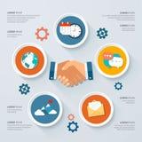 Wektorowy Infographic projekt okrąża ilustrację Tło dla biznesu i finanse Obrazy Stock
