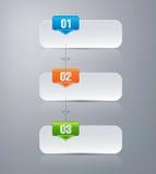 Wektorowy infographic projekta szablon Obrazy Stock
