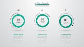 Wektorowy infographic szablon Fotografia Stock